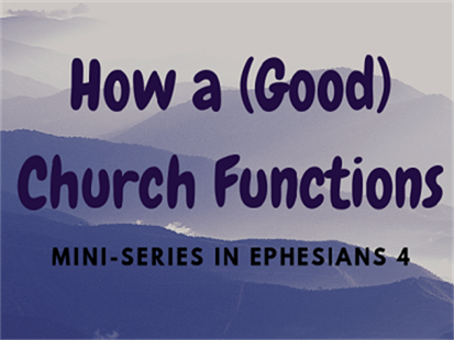 How a Good Church Functions