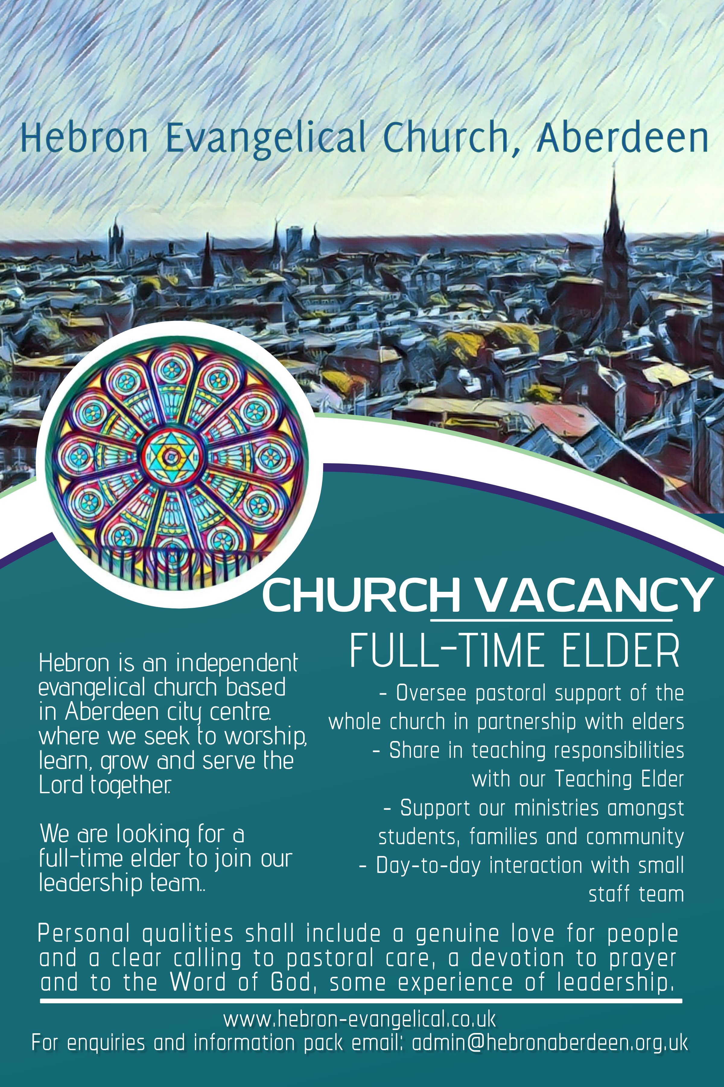 Full Time Elder advert officia