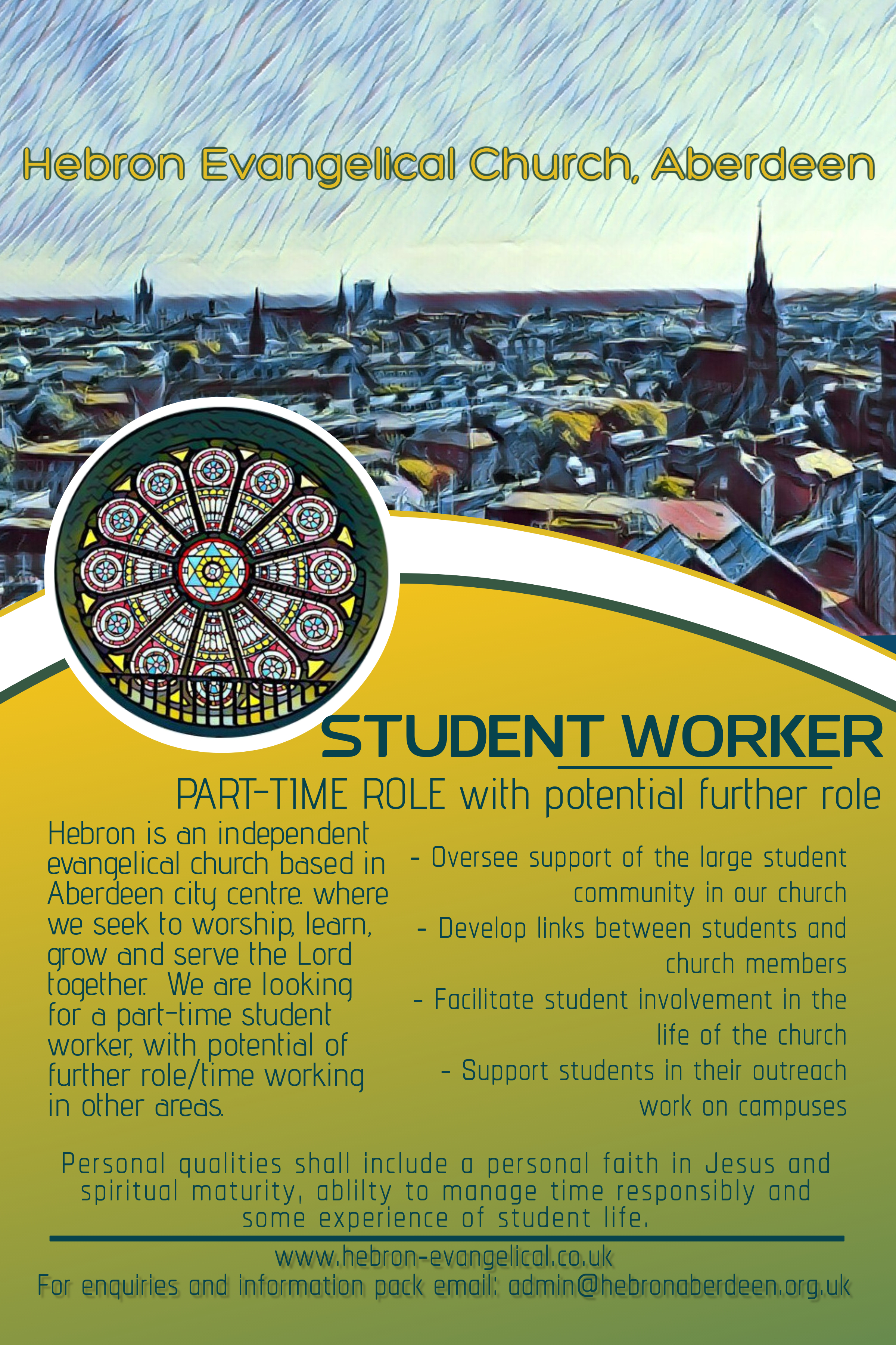 Student Worker advert