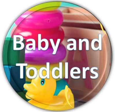 baby and toddlers button