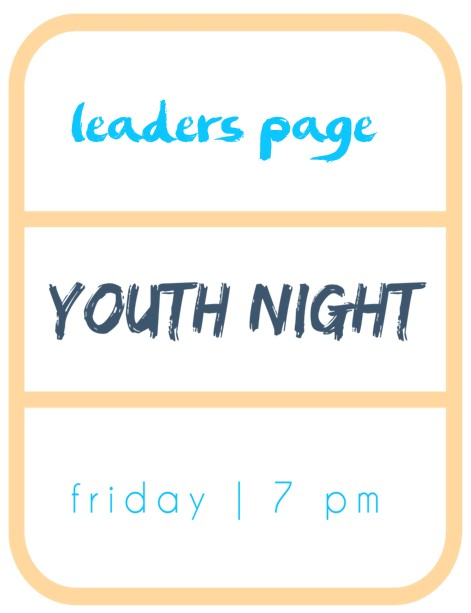 Youth night leaders